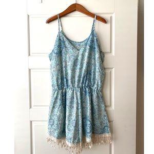 Blue Pattern Romper | Boutique